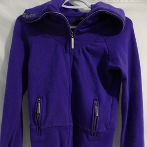 Bench zip up workout, exercise jacket, small
